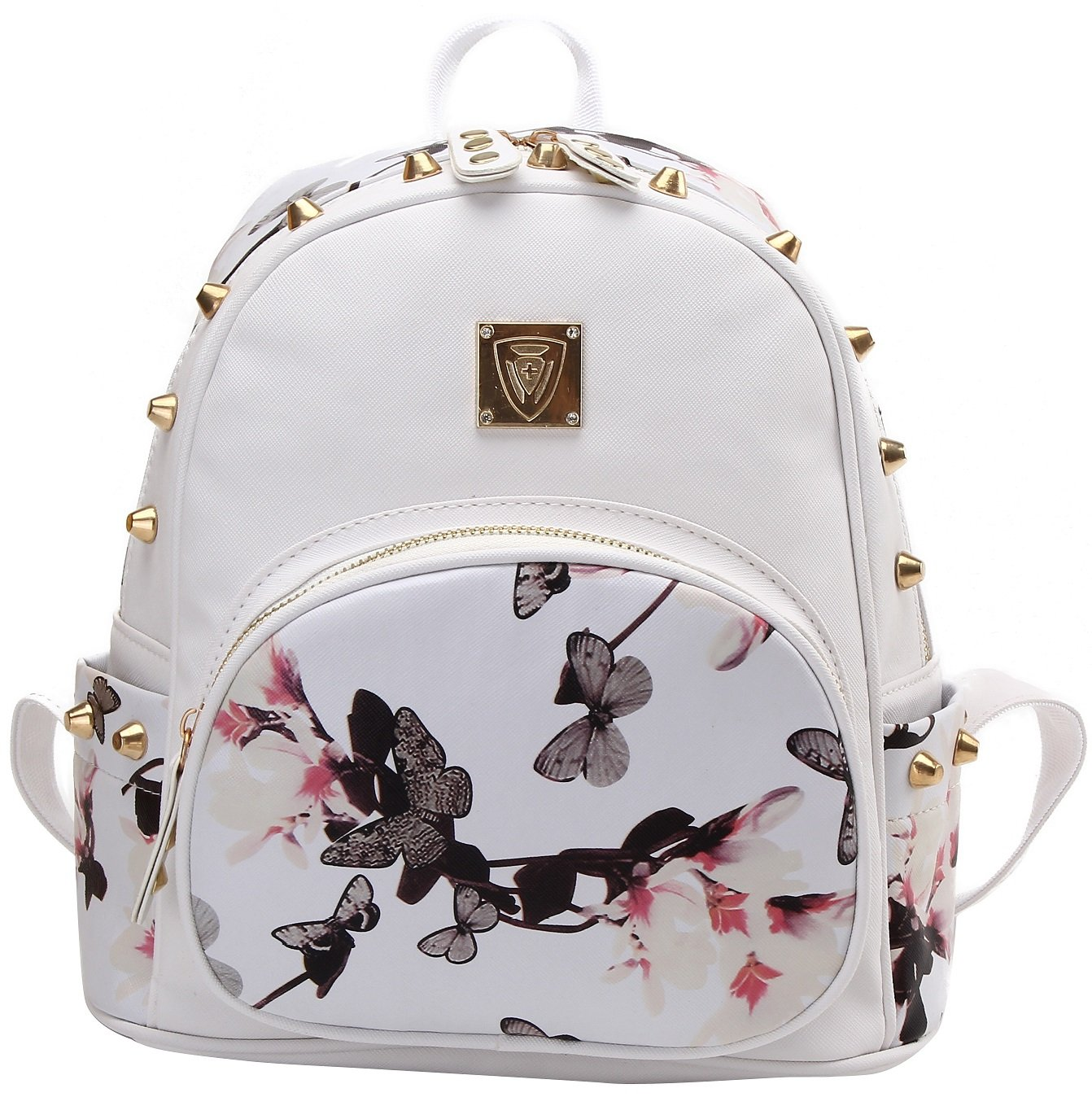 American Shield a-001 Girl's Mini Waterproof IPad Backpack Casual Lightweight Light Strong Sport Daypack 06051, White