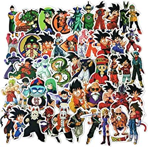 Dragon Ball Anime Sticker Pack of 50 Stickers Dragon Ball Stickers for Laptops Hydro Flasks Water Bottles Luggage
