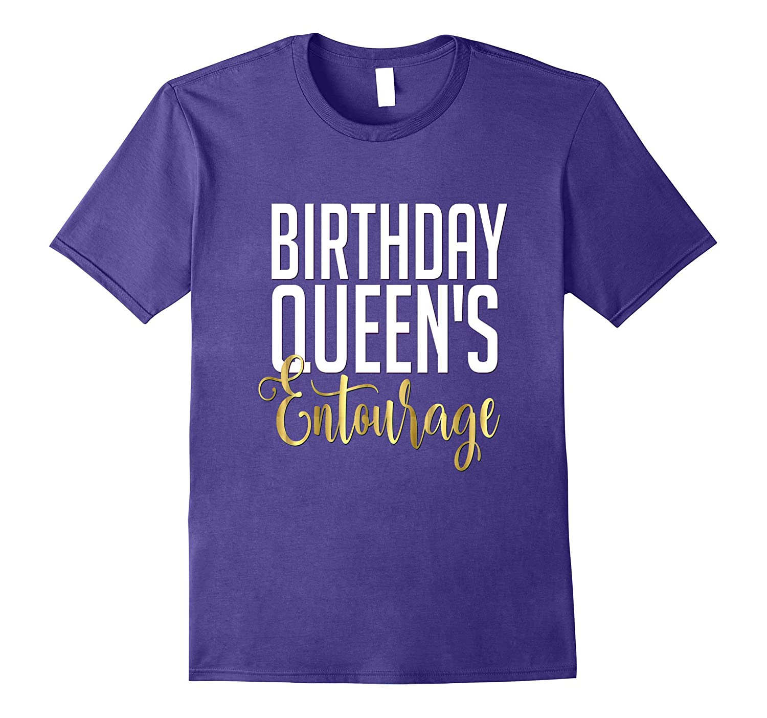 21st birthday shirt gift gold queens entourage crew squad for Bucket squad gold shirt