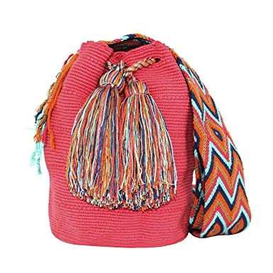 Amazon.com: Aiko Hand Woven Shoulder Bucket Bag, Wayuu Mochila, Cotton, Summer Fashion: Clothing