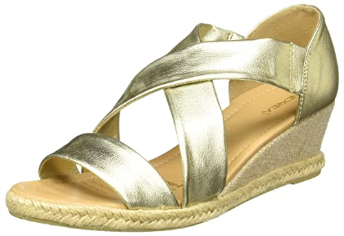 a39eccf9 Andrea 2402963 Alpargatas para Mujer, Color Oro, 24.5: Amazon.com.mx ...