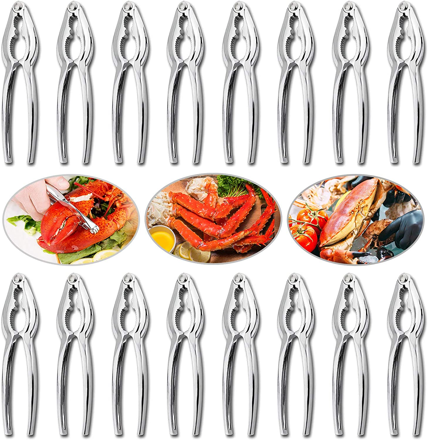 16 Pieces Crab Crackers and Tools, Seafood Tools Set Lobster Crackers Crab Crackers Sets Nut Crackers Tools