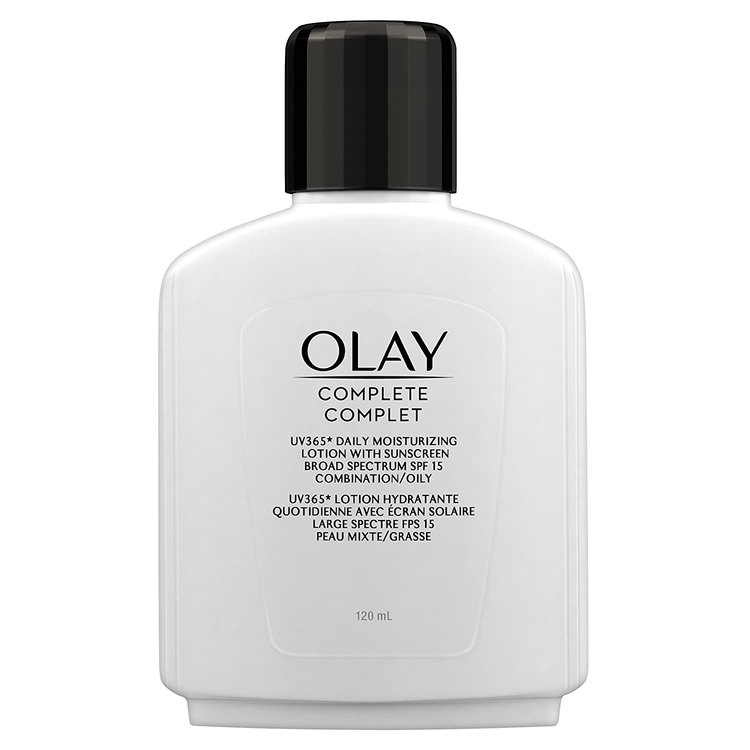 Olay Complete Lotion Moisturizer with SPF 15 Oily, 120 mL, Packaging may vary