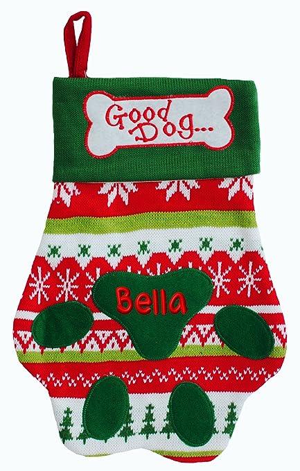 good doggy personalized dog christmas stocking