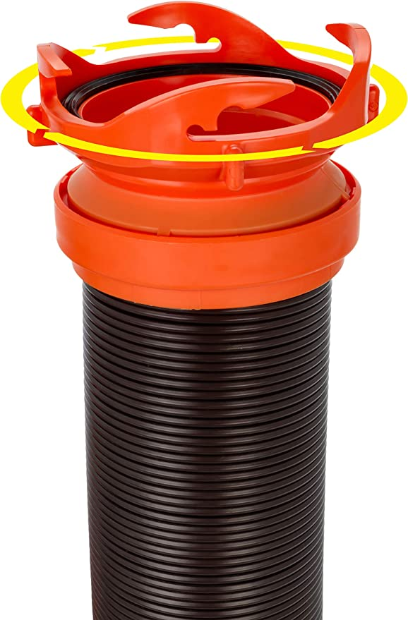 Camco RhinoFLEX Heavy Duty 10ft RV Sewer Hose Extension Kit with Swivel Fitting 39764 Extends Your Sewer Hose to Fit Your Needs