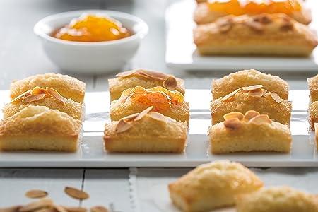 Lékué Gourmet - Molde para mini bizcochos, 20 cavidades, color rojo: Amazon.es: Hogar