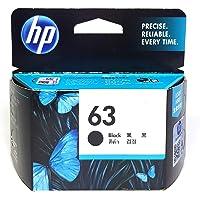 HP Office Product 63 Original Black Ink Cartridge, Black, (F6U62AA)