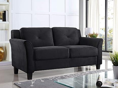 Superb Lifestyle Solutions Harrington Loveseat Black Dailytribune Chair Design For Home Dailytribuneorg