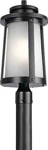 Kichler 49920BK Harbor Bay Outdoor Post 1-Light 100 Watts, Black