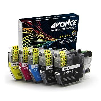 Avonce - Juego de 5 cartuchos de tinta compatibles con Brother ...