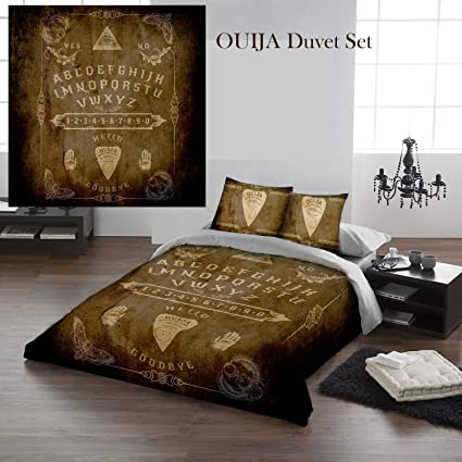 OUIJA BOARD Queensize Bed Duvet U0026 Pillow Bed Linen Set Officially Licenced  Dark Gothic Art