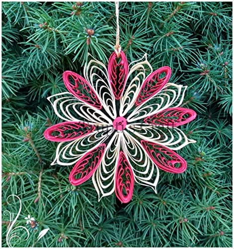 Amazon Com Paper Quilling Snowflake Ornament Car Hanging Wall