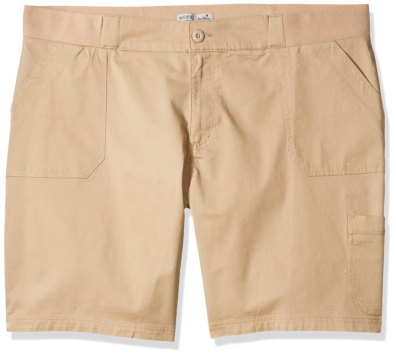acad859e7fb7 Riders by Lee Indigo Women's Plus Size Utility Bermuda Short at Amazon  Women's Clothing store: