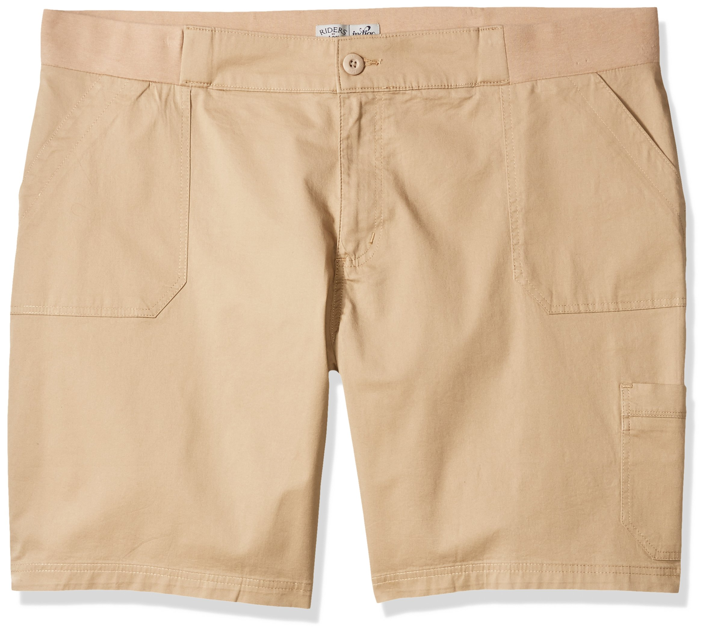 Riders by Lee Indigo Women's Plus Size Utility Bermuda Short, Khaki, 20W