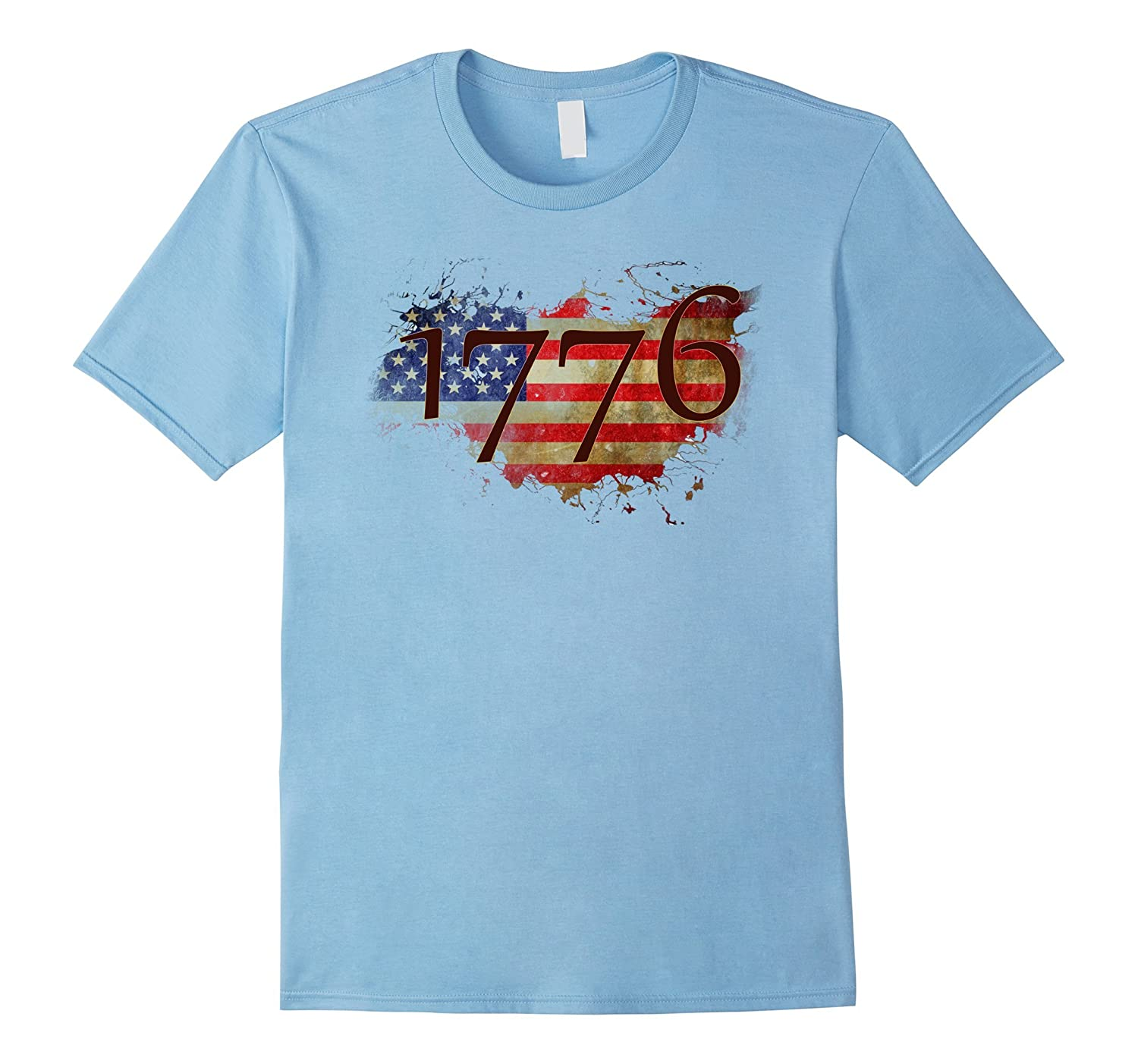 America Since 1776 with Flag retro T-shirt July 4th-TH