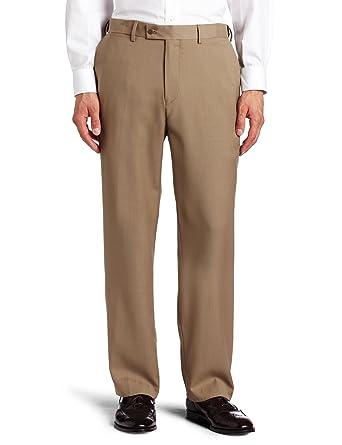 Louis Raphael ROSSO Men's Flat Front Washable Wool Blend Dress ...