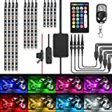 Nilight TL-35 12PCS Motorcycle RGB Led Kit Waterproof Multi-Color Atmosphere Lights Lamp with Dual RF Wireless Remote…