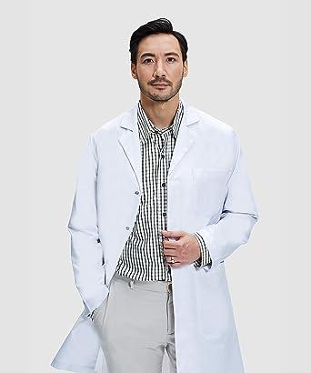 James Blouse Blanche Chimie 100/% Coton Professionell Unisexe Poches pour Smartphone et Tablette Dr Coupe Classique