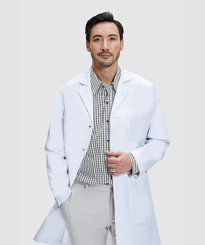 James Bata de Laboratorio Unisex Corte Cl/ásico Dr 100/% Algod/ón