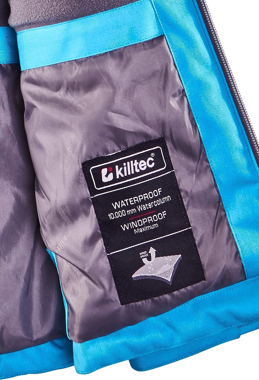 columna de agua de 10.000 mm Killtec Narissa Jr Chaqueta funcional de invierno con capucha Ni/ñas resistente al agua
