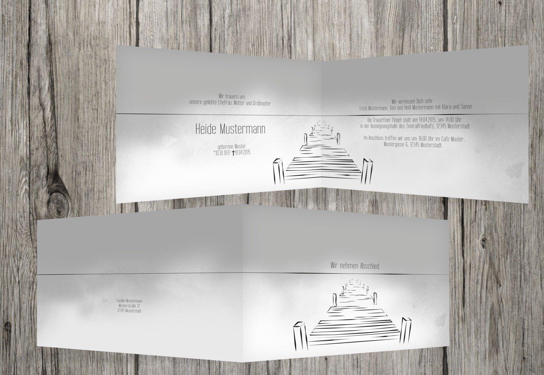 Tarjeta de luto Boardwalk, gris, 30 Karten