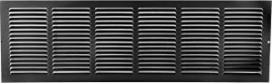 "30"" X 6"" Steel Return Air Grilles - Sidewall and Ceiling - HVAC Duct Cover - Black [Outer Dimensions: 31.75""w X 7.75""h]"