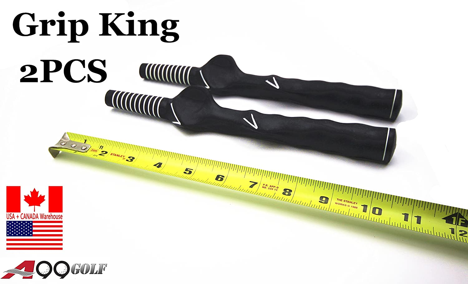 A99 Golf 2pcs Grip King Swing Trainer Left Handed Training aid
