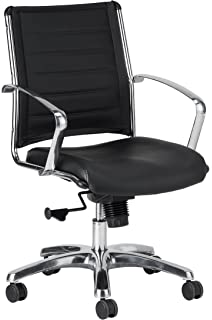 e347193ad8c8 Amazon.com: WOBI OFFICE Robin Lowback Chair, Black Leather: Kitchen ...