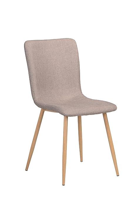 Set de 4 sillas Scargill tapizadas Color Capuccino para Comedor con ...