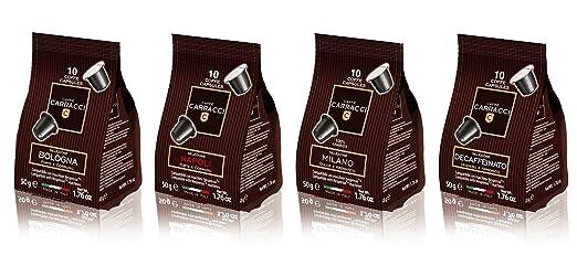 29 opinioni per Caffè Carracci Kit 100 cialde capsule compatibili Nespresso assortite