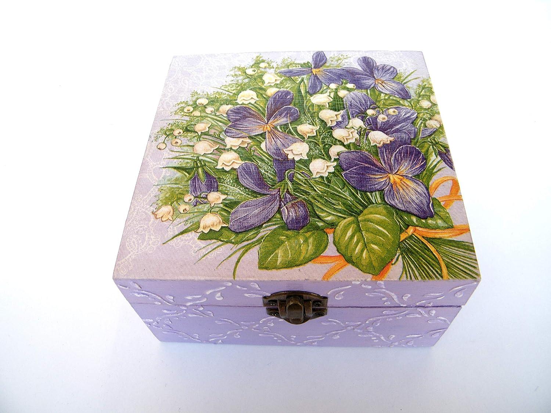 Caja para bolsitas de tè, almacenaje madera para infusiones 4 ...
