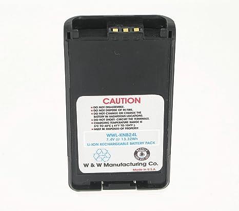 Battery for Kenwood TK-3170 KNB-35L NX-320 TK-3148 Two-Way Radio KNB-24