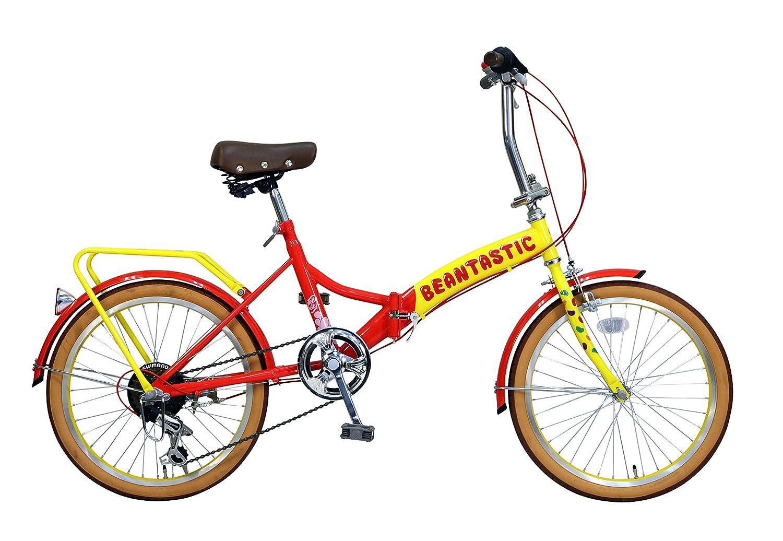 Jelly Belly(ジェリーベリー) 20型6段変速付 折りたたみ自転車 TJB-206FD イエロー/レッド B01CCIAUWU