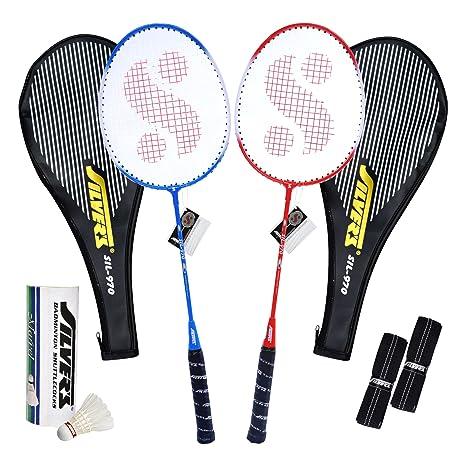 Silver's SIL-970 COMBO4 Badminton Kit Badminton Complete Sets at amazon