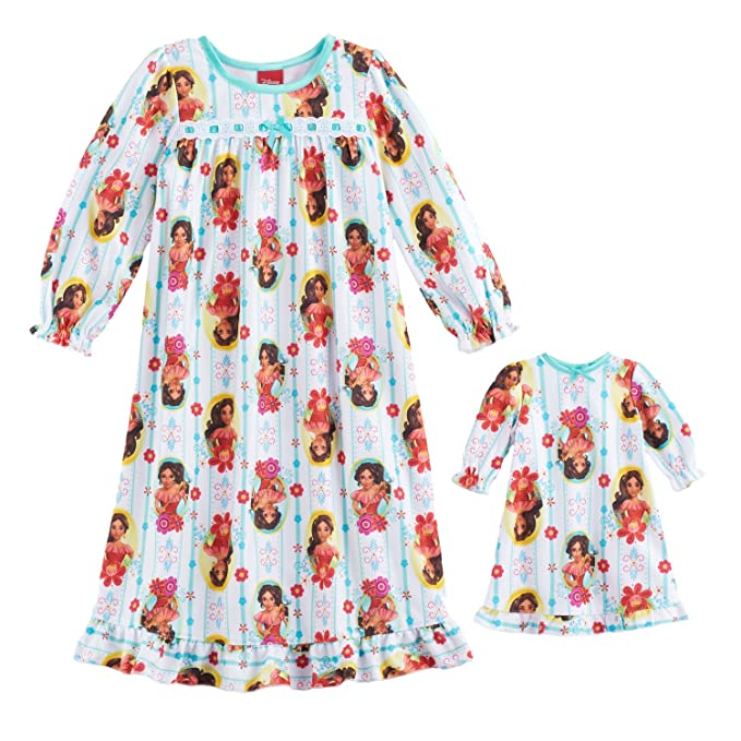 03dd08179 Amazon.com  Elena of Avalor Disney Toddler Nightgown With Matching ...