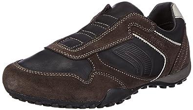 Herren U Snake R Sneakers, Schwarz, 45 EU Geox