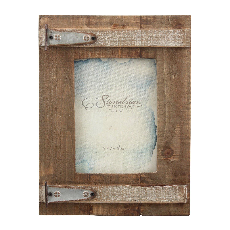 Stonebriar Rustic Natural Wood Picture Frame, Easel Back for Desktop or Table Top Display by Stonebriar