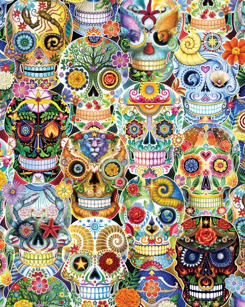 Day of The Dead (Sugar Skulls) Jigsaw Puzzle 1000 Piece