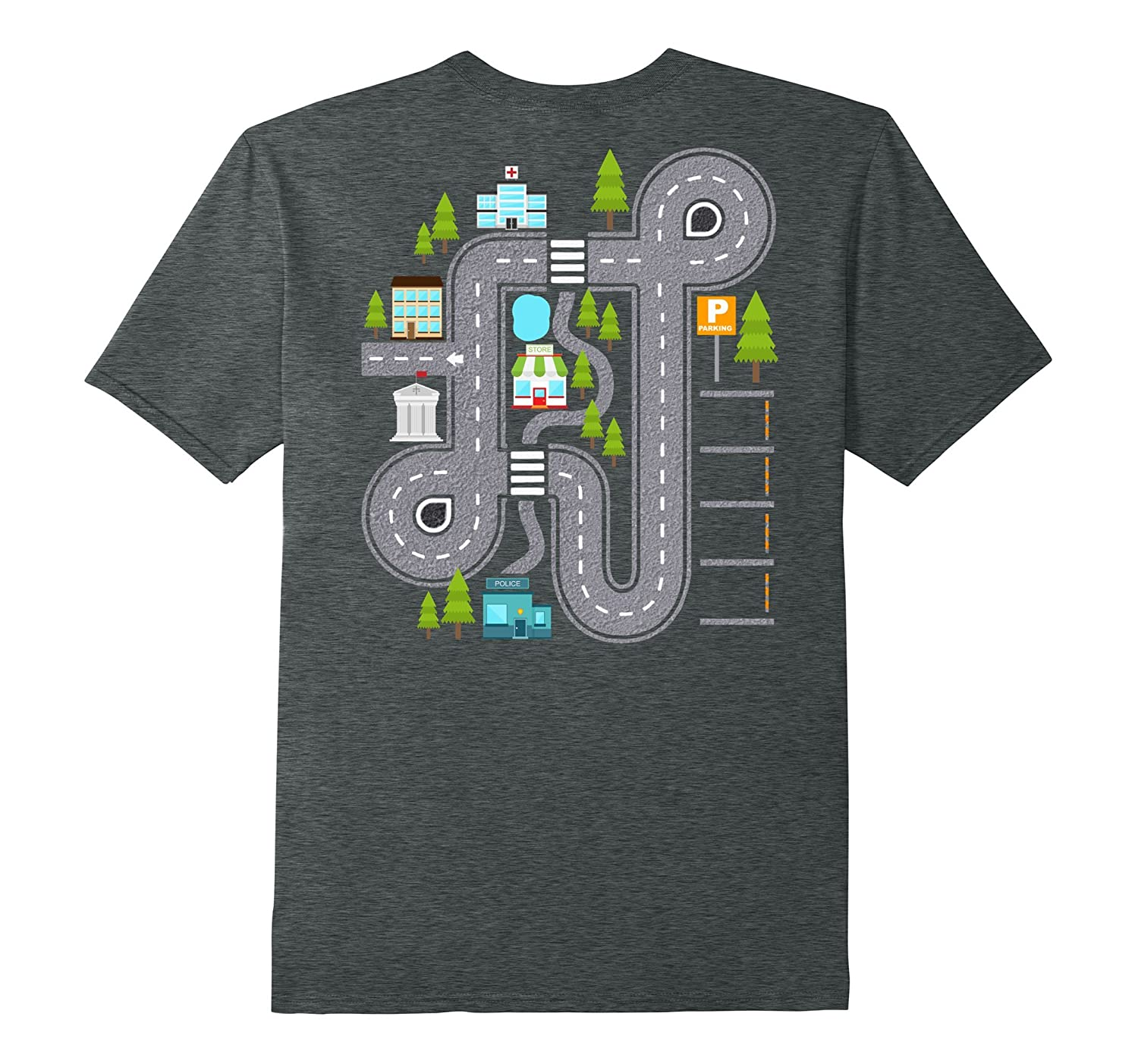 PLAY CARS ON DADDYS BACK Gift T-shirt for Dad  Kids-PL