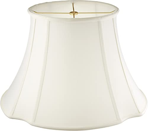 Royal Designs BS-709-19WH Oval Inverted Corner Lamp Shade, White, 11 x 9 x 19 x 16.5 x 13