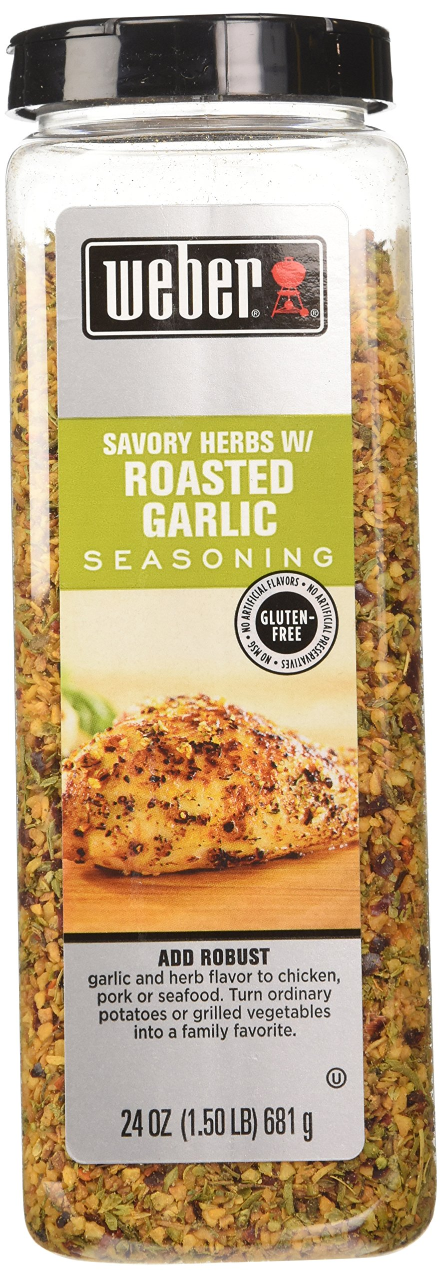 Weber All Natural Savory Herbs w/ Roasted Garlic Seasoning, No MSG, Gluten Free