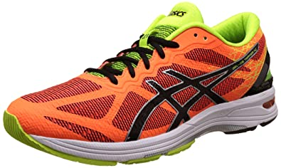 ASICS Men's Gel-Ds Trainer 21 Nc Hot Orange, Black and Flash Yellow Running