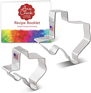 product image for Ann Clark Cookie Cutters 2-Piece State of Texas Cookie Cutter Set with Recipe Booklet, Large and Regular