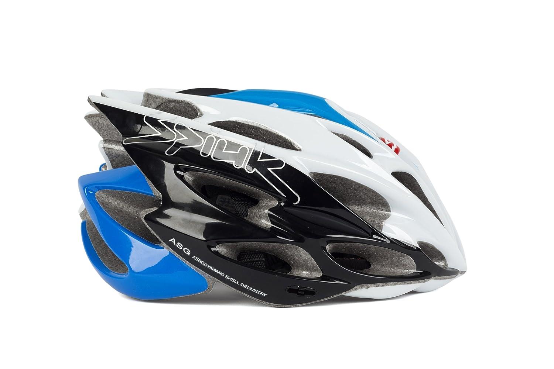 Spiuk Nexion - Casco de Ciclismo, Color Azul/Blanco/Negro, Talla 53-61