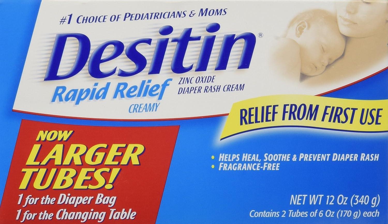 Desitin Creamy Diaper Rash Cream - Fragrance Free - 6 oz - 2 Pk CO-026