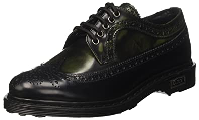 Cult Damen Sabbath Low 491 Oxford, Mehrfarbig (Black/Bordeaux 940), 36 EU