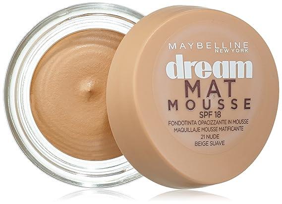 c6578bcb2 Maybelline New York Base de maquillaje Dream Mat Mousse nº 21 Beige Suave:  Amazon.es: Belleza