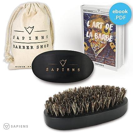 Cepillo de la barba (cerdas de jabalí por Sapiens - Accesorio de ...