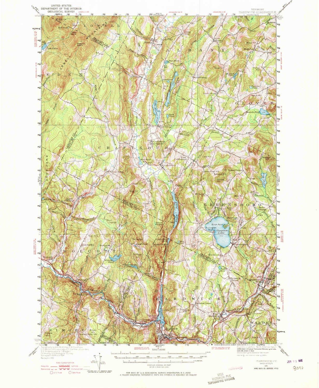 Topographic Map Vermont.Amazon Com Yellowmaps Hardwick Vt Topo Map 1 62500 Scale 15 X 15