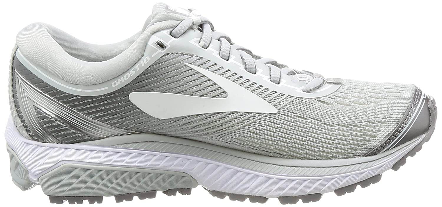 Brooks 10 Women's Ghost 10 Brooks Microchip/White/Metallic Charcoal Running Shoe 7 Women US B01N3PQ1OW Road Running 34defe